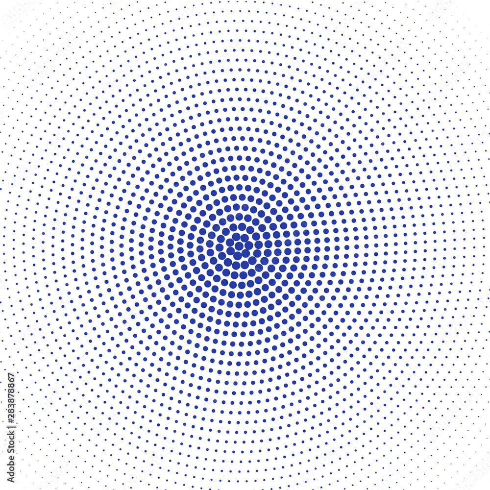 Blue dots on white background