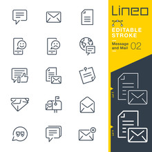 Lineo Editable Stroke - Message And Mail Line Icons