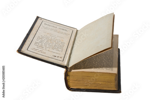 Vintage small dutch book of psalms of 1906 Canvas Print