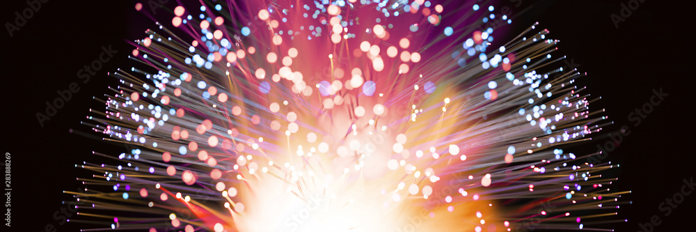 Fototapeta Abstract fireworks explosion in colorful shades