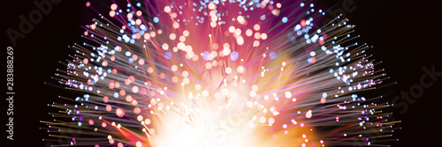 Abstract fireworks explosion in colorful shades - 283888269