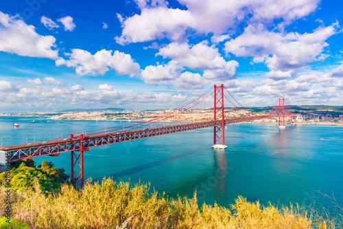 The 25th April Bridge (Ponte 25 de Abril) in Lisbon, Portugal Canvas Print
