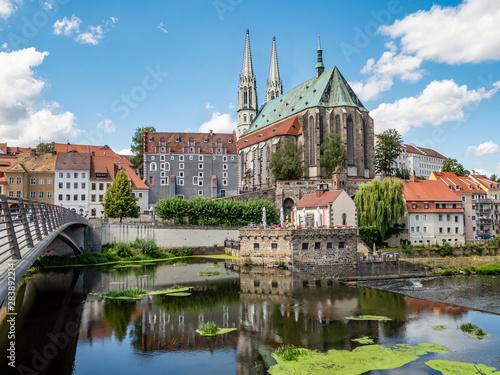 Obraz Skyline von Görlitz in Ostsachsen - fototapety do salonu
