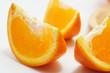 Slice oranges on white background