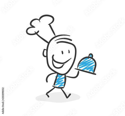 Stickman Blue: Cook, restaurant. (Nr. 48)