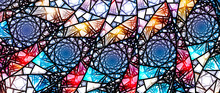 Colorful Glowing Stained Glass...