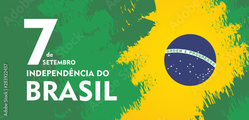Foto  Brazil independence day celebration greeting card illustration