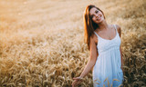 Young beautiful woman spending time in nature - 283939871