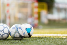 Picture Of Three Soccer Balls ...