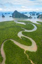 Panoramic Aerial View Of Phang...