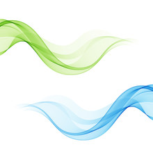 Set Abstract Color Wave Design...
