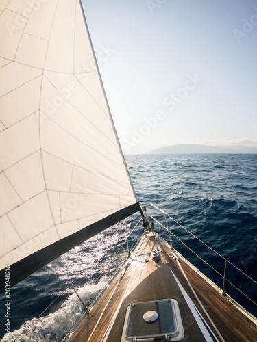 Sailing boat at sea in summer in Tuscany, Italy