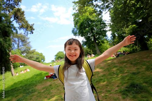 Fotografie, Obraz  Portrait of little girl smiling outside