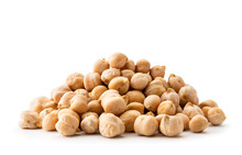 Pile Chickpeas Close-up On A W...
