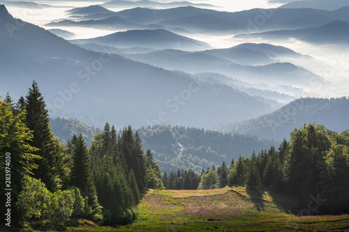 Mountain range from the top of the mountain Jahorina Fototapet