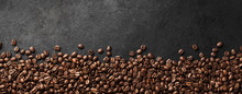 Banner - Fresh Coffee Beans With Dark Background