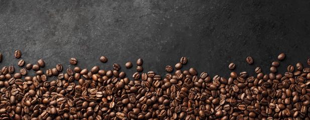 Banner - Fresh Coffee Beans With Dark Background