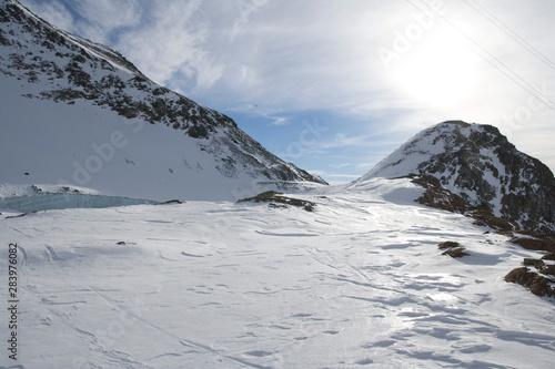 Fototapety, obrazy: cold glacier highland