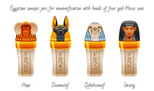 Ancient Egyptian Canopic Jars ...