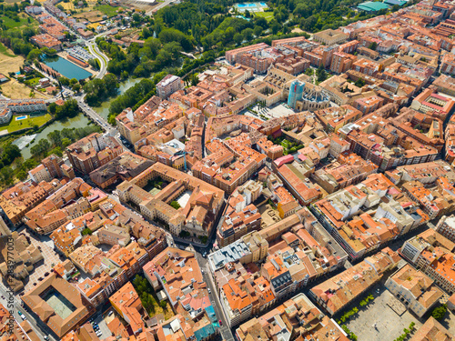 Aerial view of Palencia cityscape