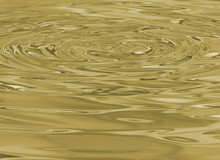 Close Up Of Liquid Gold Ripple Wave For Abstract Background, Droplet Water Wave