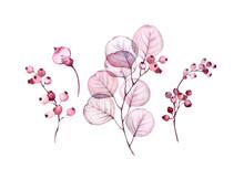 Watercolor Transparent Floral ...