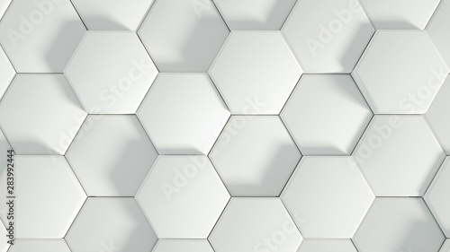 Fototapety 3d   geometry-hexagon-background-3d-illustration-3d-rendering