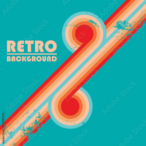 Plakaty retro  vintage-design-background-with-twisted-colored-stripes-and-retro-grunge-texture