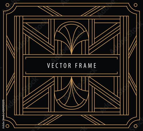Vector abstract design template Canvas Print