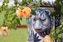 Street Vase With Roses In The ...
