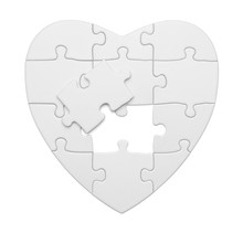 Heart Puzzle With Piece Out