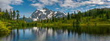 Picture Lake With Mt. Shuksan,...
