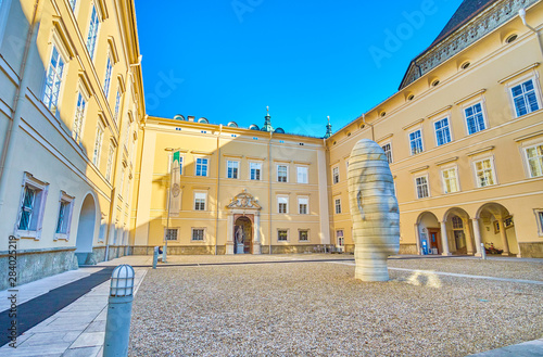 The Toskanatrakt courtyard of old Residence in Salzburg, Austria Canvas Print