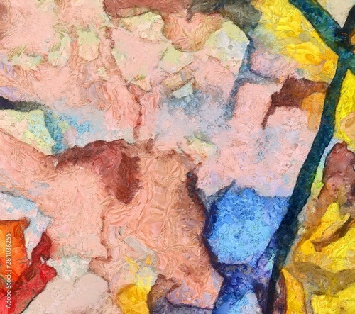 Photo sur Toile Papillons dans Grunge Original abstract painting at canvas. Mixed media pattern. Hand drawn art background.