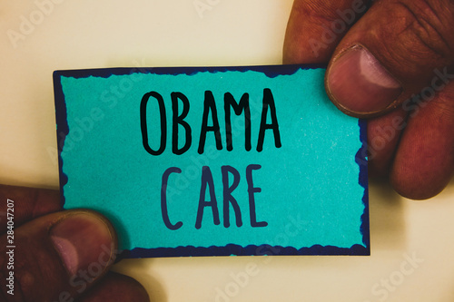 Words writing texts Obama Care Canvas-taulu