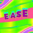 Leinwandbild Motiv Creative text collage art. Ease