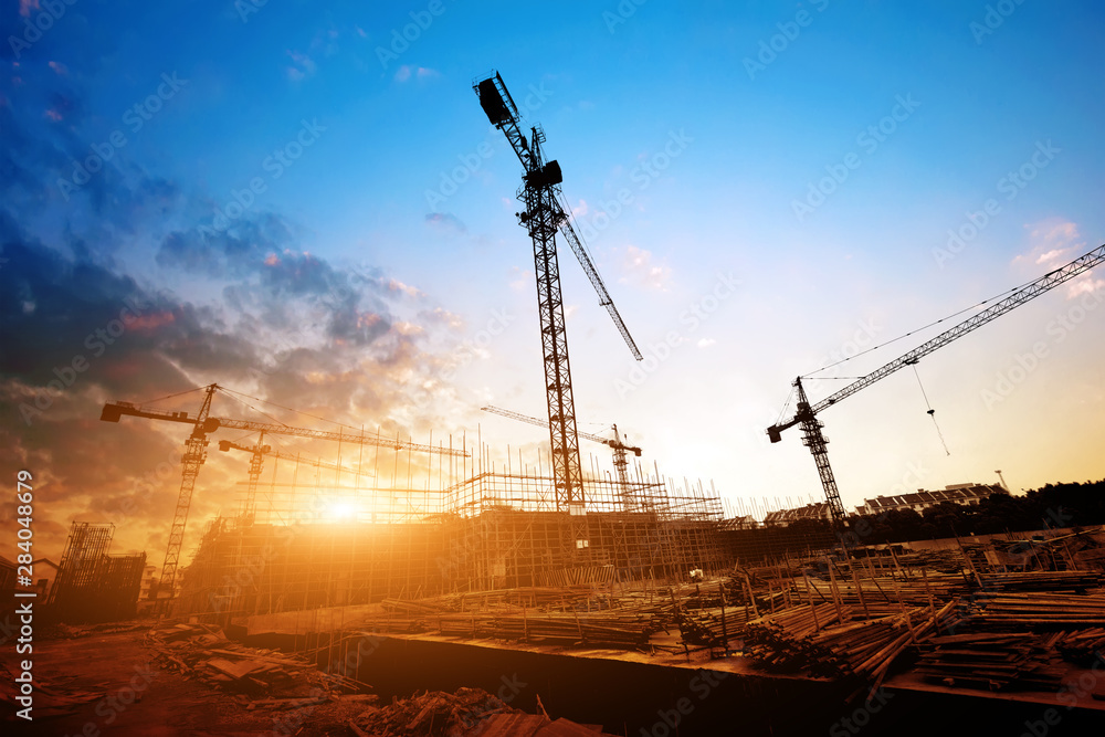 Fototapety, obrazy: Dusk building site