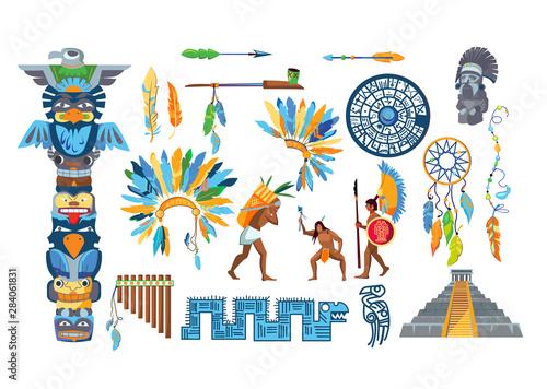Fototapeta Maya civilization item set