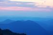 Leinwandbild Motiv Mountains silhouette