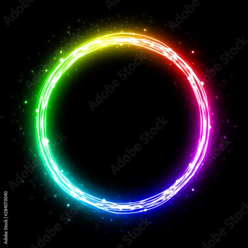 Rainbow circle (line) Slika na platnu
