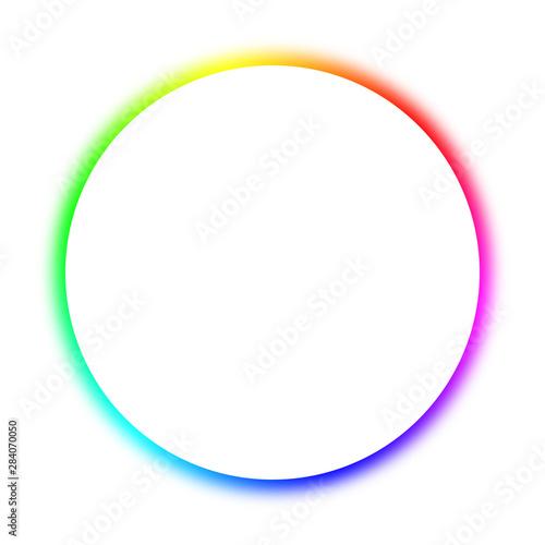 Obraz Rainbow circle (white) - fototapety do salonu