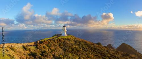 Obraz Cape Reinga lighhouse panoramic landscape New Zealand - fototapety do salonu