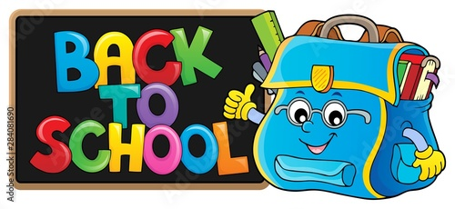 Fotobehang Voor kinderen Back to school composition image 1