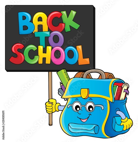 Fotobehang Voor kinderen Back to school composition image 2