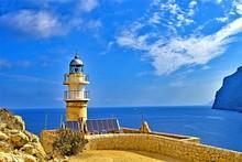 Solar Powered Lighthouse On Dragonera 4, Majorca, Spain