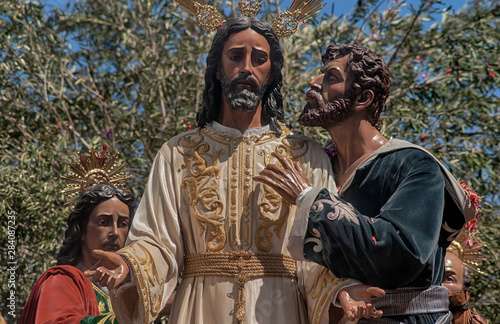 Hermandad del beso de Judas, semana santa de Sevilla Canvas Print
