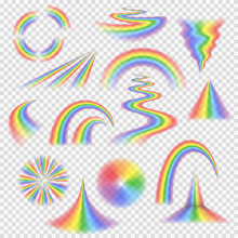 Various Rainbow Bands, Curves,...