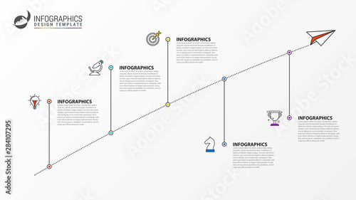 Infographic design template. Creative concept with 5 steps Canvas