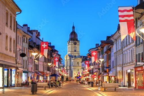 Montage in der Fensternische Brasilien Grand Rue, Morges, Switzerland