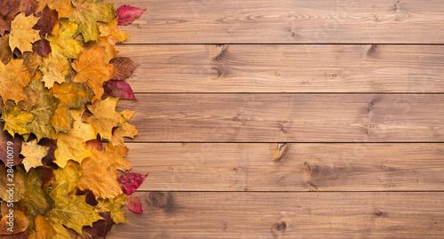 Fotografiet  Seasonal autumn background